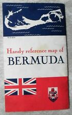 Handy Reference Map of Bermuda Trade Development Board 1963 Souvenir