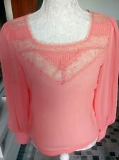 AX paris sheer shirt size 10 peachy orange