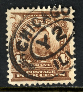 SCOTT 303 1903 4 CENT GRANT REGULAR ISSUE USED VF!
