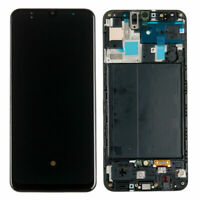 For Samsung Galaxy A50 2019 A505 AMOLED LCD Display Touch Screen Digitizer Frame