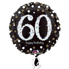 Doré Brillant Célébration 60th Anniversaire Aluminium Ballons Décoration pour