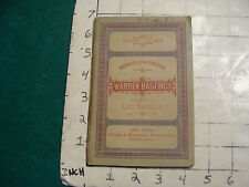 vintage book: English Classics #34: WARREN HASTINGS by Lord Macaulay