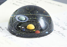 Black Glass Universe Planet Paperweight Galaxy Space Art Desk Paper Weight Gift