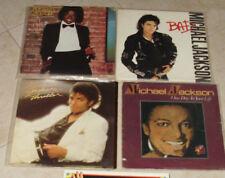 "Michael Jackson Vintage 4 music records 12"""