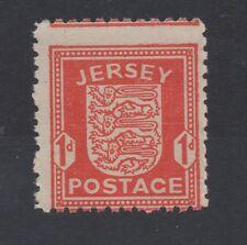 Jersey. 1941 Guerra Ocupación. j2. 1d Scarlet Con Error De Perforación. Excelente Mnh.