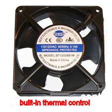 Best Electronics BT12038B1M AC115V 120MM X 38MM AC FAN THERMAL CONTROL