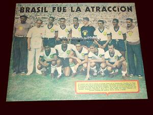 "BRAZIL SOUTH AMERICAN CUP CHILE 1945 - Original Poster BRAZIL TEAM 13 x 9,85"""