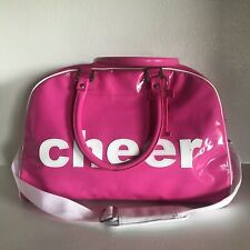 Trumpette Pink Patent PVC Cheer Tote Satchel Bag Cheerleader Activity Purse