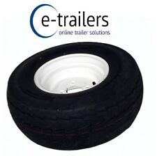 "20-5 x8-10 4ply 20.5 DELI FLOATATION TYRE ON 4"" PCD WHITE RIM GREASE CUT OUT"