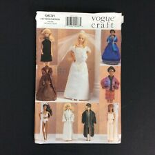 Vogue Craft Sewing Pattern 9531 Fashion Doll Outfits Wardrobe Linda Carr Uncut