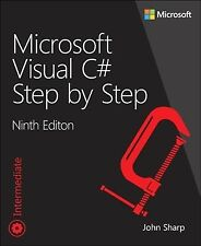 Microsoft Visual C# Step by Step, Paperback by Sharp, John, Brand New, Free s...