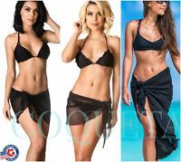 SARONG Beach Bikini Cover up Solid Pareo swim skirt short wrap COQUETA assorted