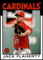 Jack Flaherty 2021 Topps 5x7 1986 Baseball 35th Anniversary #86B-73 /49 Cardinal