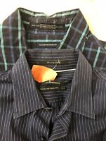 Lot of 2 Men's Club Monaco Shirts 1 Dress Shirt + 1 SS Casual Sz Small