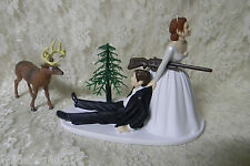 Wedding Deer Hunter Hunting Cake Topper ~Red Hair on Bride - Dark on Groom~~