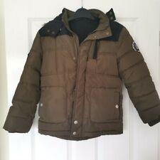 Boy's coat, George, brown & black, 7-8 years
