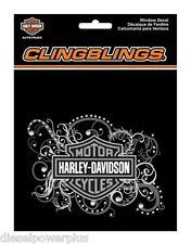 Harley Davidson bling  decal motorcycle bike sticker window diamond cling HD new