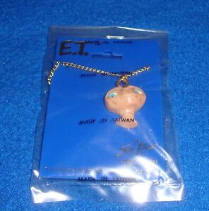 Vintage E.T. Necklace 1982 Sealed New Old Stock