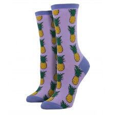 Socksmith Women's Socks Pineapple Lavender Purple Crew Sock Novelty Footwear