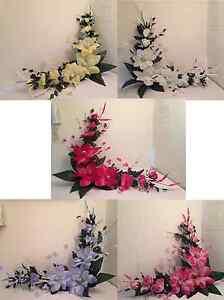 """58"""" SILK MAGNOLIA SWAG ARTIFICIAL FLOWER SILVER TRIM HOME WEDDING  DECOR"""