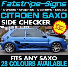 CITROEN SAXO GRAPHICS CAR CHECKER VINYL STRIPES DECALS STICKERS VTS VTR 1.4 1.6