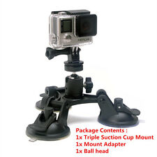 1PC Car Suction Cup + Mount Adapter for GoPro HD For Canon, Nikon 2 3+ 4 Camera