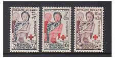 Laos - SG 29/31 - u/m - 1953 - Red Cross