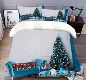 3D Sofa Teddy Bear B743 Christmas Quilt Duvet Cover Xmas Bed Pillowcases Zoe