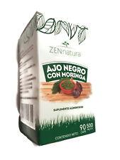 Ajo Negro con Moringa 90 Tabletas, Fermented Black Garlic with Moringa 500mg.