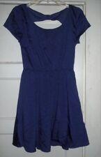 EYELASH COUTURE Purple Cutout Back Dress Medium Juniors 7-9