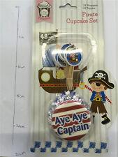 Cupcake Set 48PK Pirate Inc Case Topper JM179923PI Party Supplies Muffin Holder