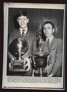 Original 1969 Bob Cousy & Terry Driscoll Wire Photo