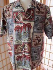 Mens Vintage ISLAND WEAR Made n Hawaii Aloha Hawaiian Button Down Shirt Shirts L
