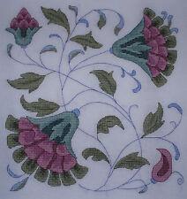 KL70 Rose Floral Tile Cross Stitch Kit Par goldleaf Needlework