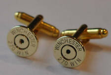 Cufflinks Custom Made in the Usa Winchester 270 Caliber Brass Bullet Casing