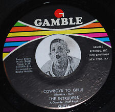 "Philly Soul 45~THE INTRUDERS~Cowboys To Girls/Turn The Hands~Gamble CLEAN 7"" NOS"