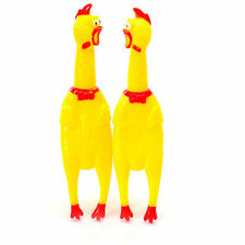 17cm Cute Screaming Rubber Yellow Chicken Pet Dog Toy Squeak Squeaker Chew Gift