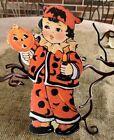 "Repro Vintage 1900s Boy in Costume,JOL Halloween Cardstock Decoration, 8"" OR 10"""