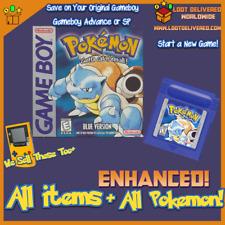 Pokemon Blue, Game Boy, Enhanced, all 151 Original Pokemon Living Pokedex