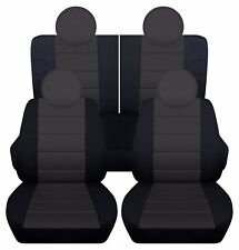 Fits 2013-2015 Fiat 500 LOUNGE  complete set  car seat covers w/ 50/50 REAR TOP