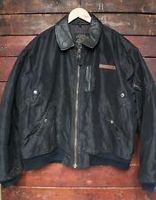 VINTAGE AVIREX USAAF type B-15 en Nylon Noir Veste De Vol Air Force bomber XL