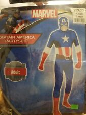 Marvel Size Large Captain America Avengers Hero Party Suit Costume #638