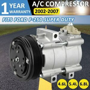 New A/C Compressor with Clutch For Ford F53 F-350 F-250 F-150Four Seasons 57167