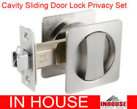 Cavity Sliding door Lock-Privacy function Satin finish