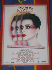 KATY PERRY - 2018 WITNESS AUSTRALIA TOUR - LAMINATED PROMO TOUR POSTER.