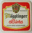 alter Bierdeckel MÖGGLINGER BIERE, Adler Bräu, Mögglingen, 🍺 A-7