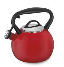 Cuisinart CTK-EOSTRR Valor Porcelain Enamel on Steel Tea Kettle, Red