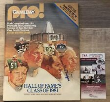 Morris Red Badgro Signed 1981 HOF program RARE JSA COA