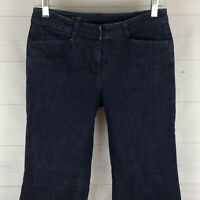 TALBOTS Heritage petite womens 4P stretch blue dark wash slim flare jeans in LNC