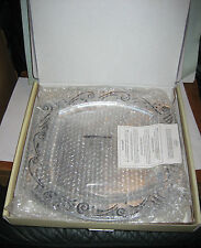 "LENOX Spyro 14"" Square Metal Servewear Serving Tray/Platter 6202535 list$84"